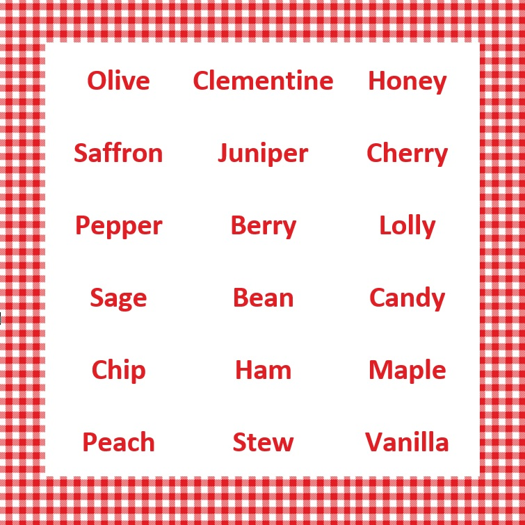 The most delicious names we've printed onto Stikins name labels this year!