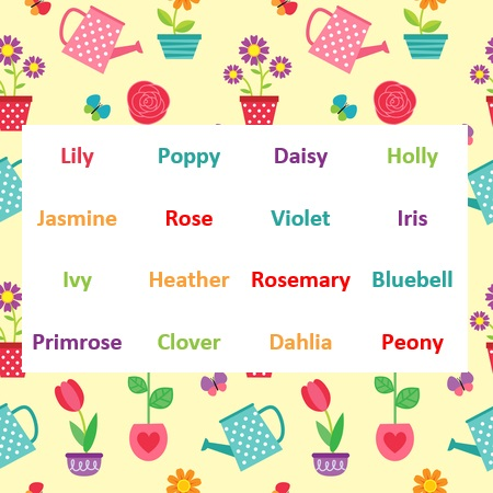 Floral favourites from Stikins name labels