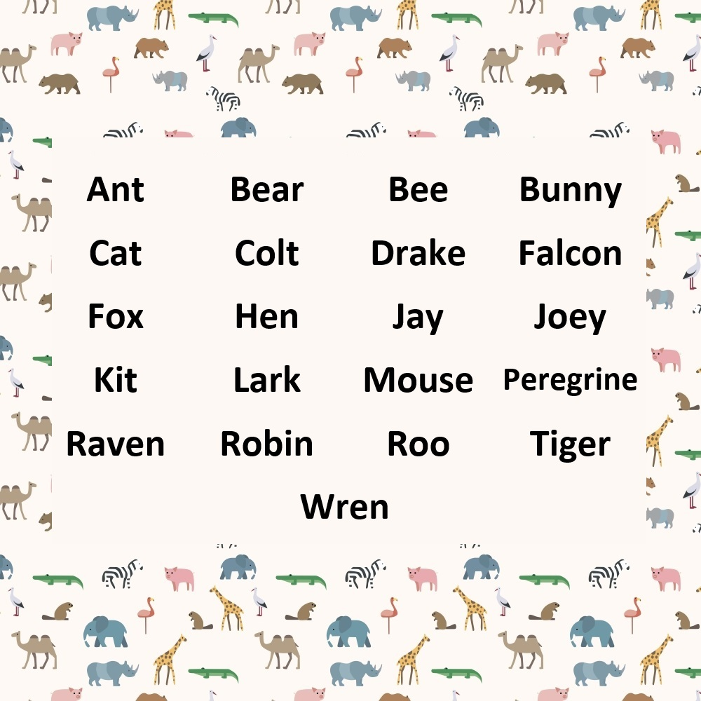 List of names that feature creatures