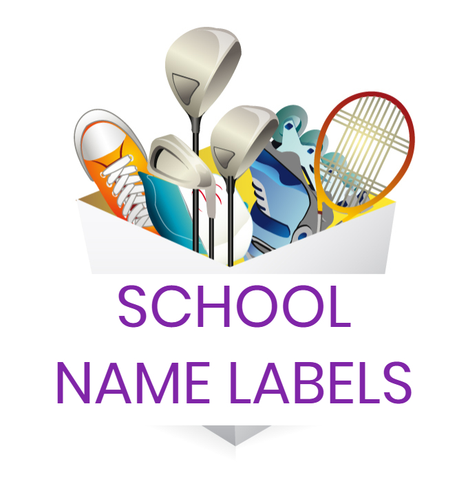 school name labels lost property